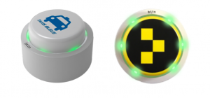 Hail a cab with a button from bttn or Taxi Butler